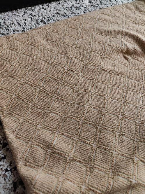 Beige Jacquard 100% Wool - 2.3 metres