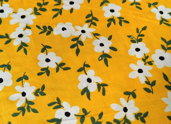 Yellow/Marigold Floral Cotton