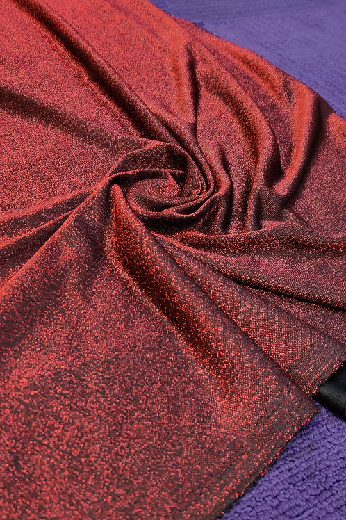 Red Glitter poly Jersey