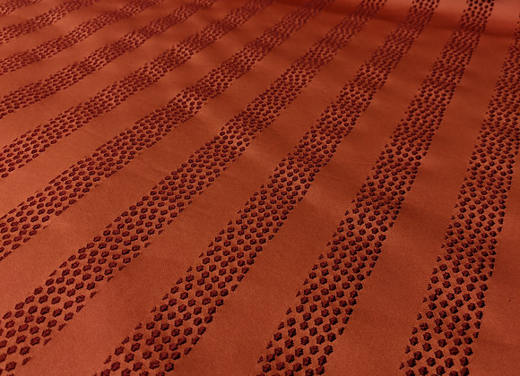 Red Stripe Speckled Satin Feel Upholstery Fabric