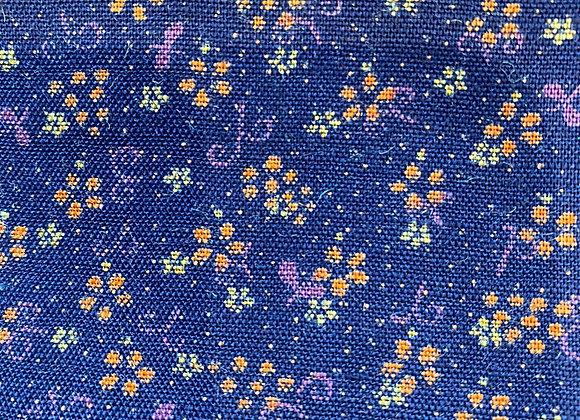 Indigo Vintage Festive 100% Cotton - 3.25 metre piece