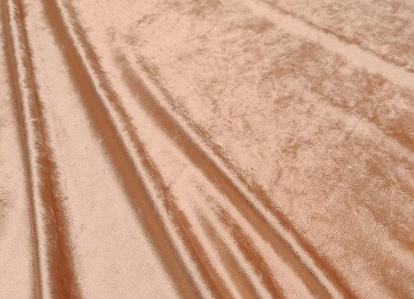 Peach Crushed Cotton Velvet