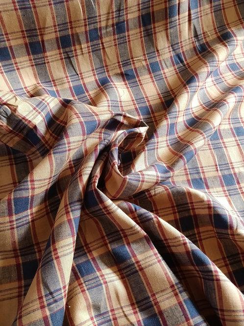 Tartan Check Print 100% Irish Linen