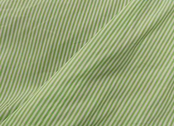 Green Striped Polycotton - 4 Metre Pieces