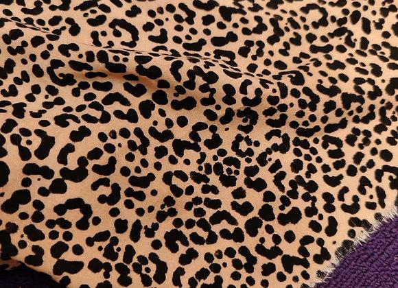 Leopard Viscose Challis - 1.45m piece