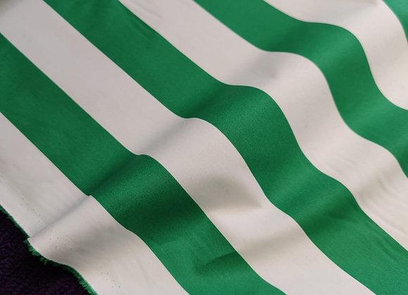 Green Stripe 100% Cotton