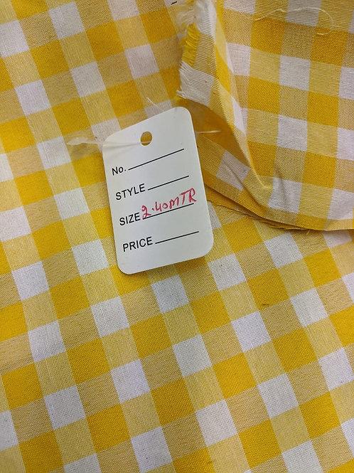 Yellow Cotton Gingham - 2.4m