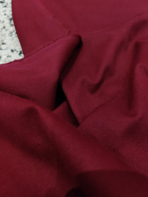 Maroon Brushed Cotton Twill