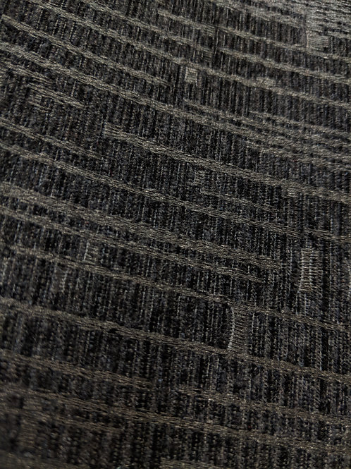 Black Abstract Thick Upholstery Fabric