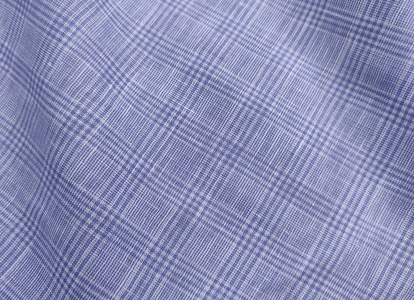 Light blue Check Irish Linen