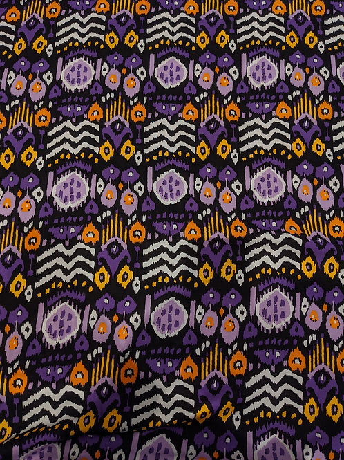Purple Abstract Aztec Viscose