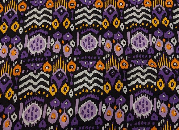 Purple Abstract Aztec Viscose - 3 metre piece