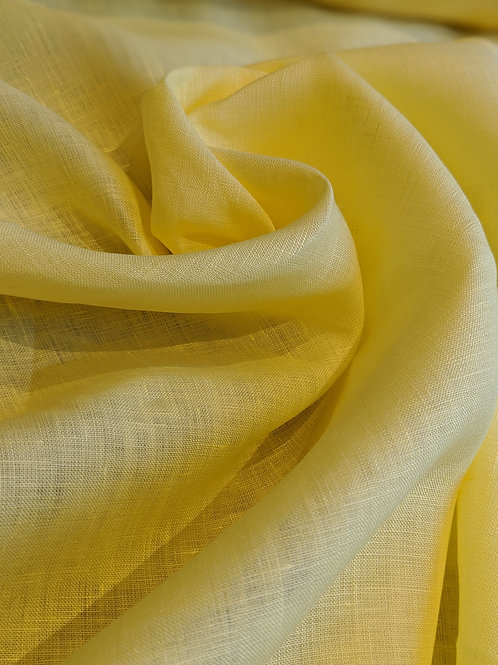 Light Yellow 100% Irish Linen