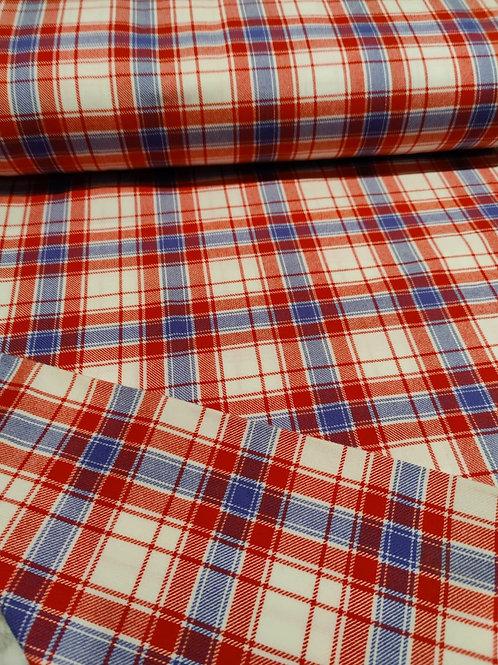 Red/Blue Virgin 100% Wool
