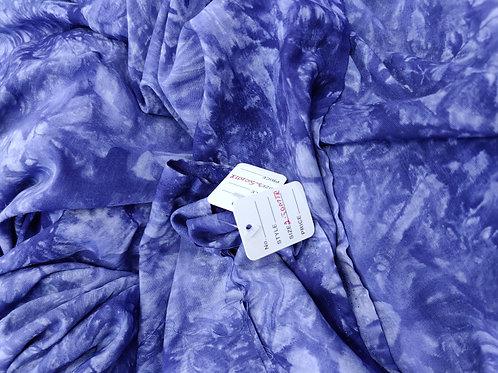Blue Tie-Dye Viscose - 2.5 metres