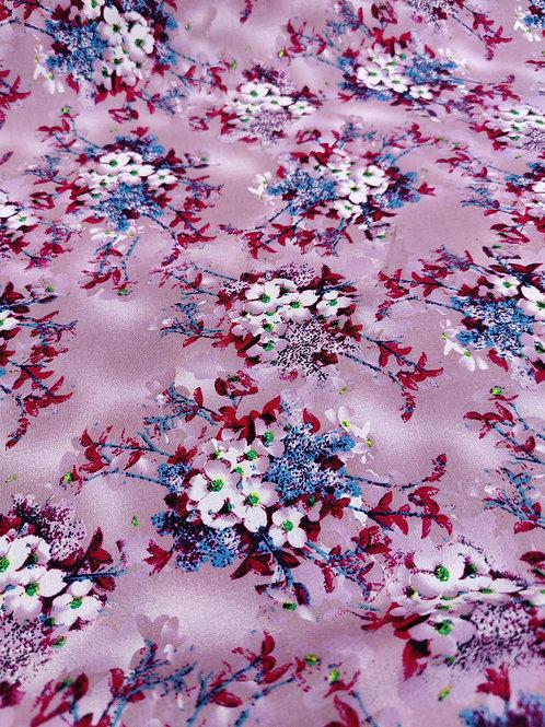Purple Floral Viscose