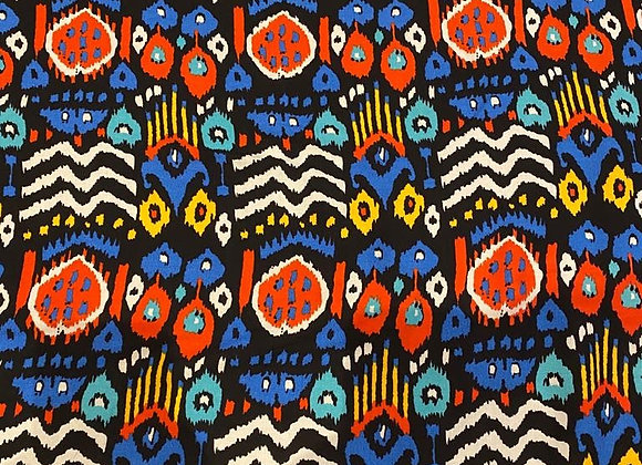Blue Abstract Aztec Viscose