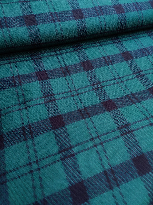 Green Tartan 100% Wool