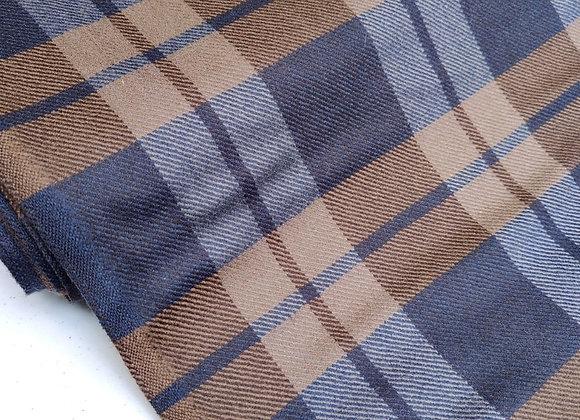 Brown/Grey Check 100% Wool