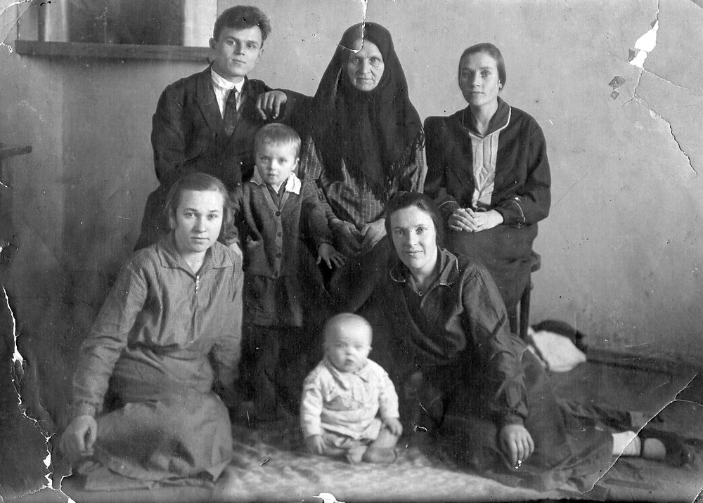 My mom, dad, grandmother, aunts and my brother Nikolai