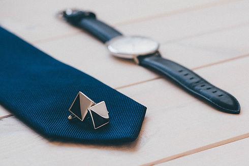 Tie, Watch and Cufflinks