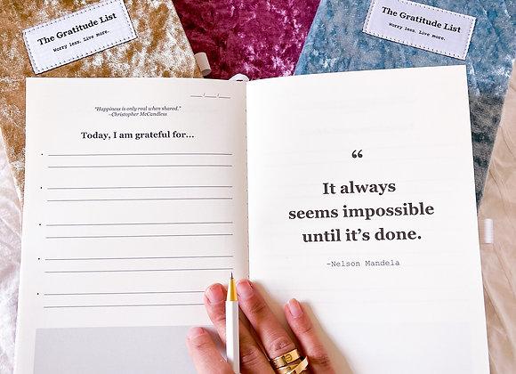 The-gratitude-list Notebook & Journal