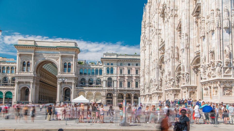 Cathedral Duomo di Milano and Vittorio E