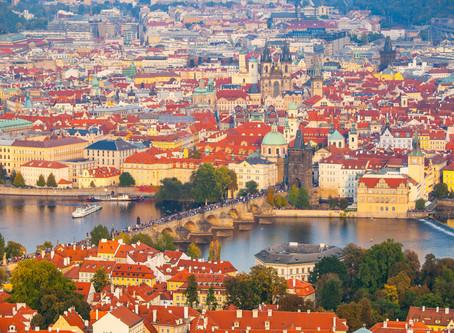 布拉格的紅磚屋頂