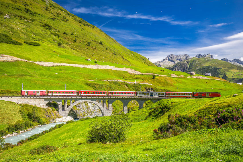 The Matterhorn - Gotthard - Bahn train o