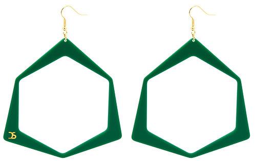OO7 GREEN EARRINGS