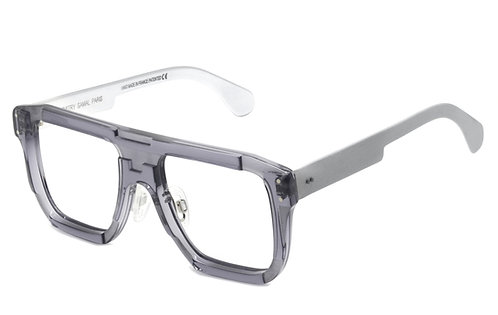 LOUIS TRANSPARENT GREY OPTICAL FRAME