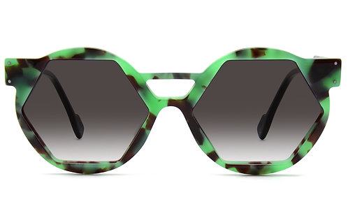 OO6 ECAILLE GREEN SUNGLASSES