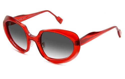 HECTOR TRANSPARENT RED SUNGLASSES