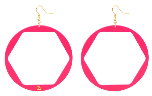 OO6 PINK EARRINGS