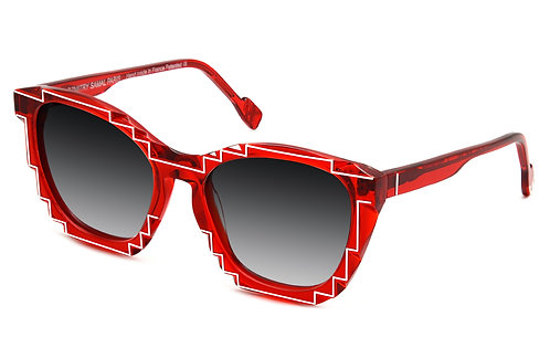 CHARLES 2  RED  SUNGLASSES