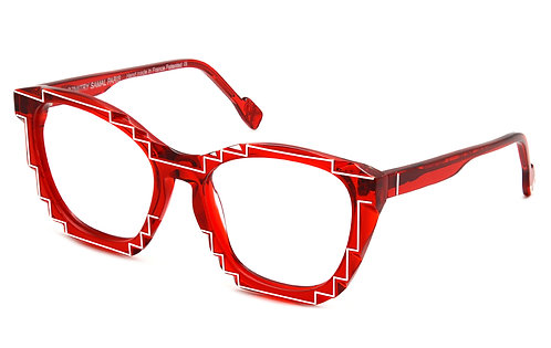 CHARLES 2 RED OPTICAL FRAME