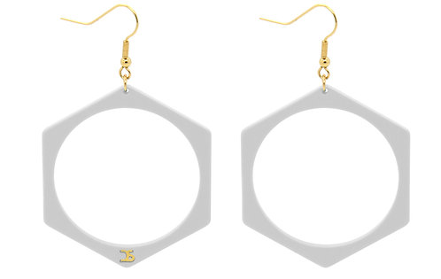 O5 WHITE EARRINGS