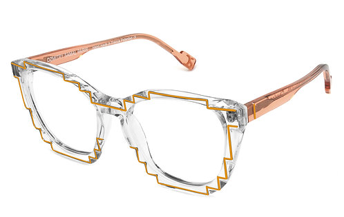 CHARLES 2 CRYSTAL / ORANGE OPTICAL FRAME