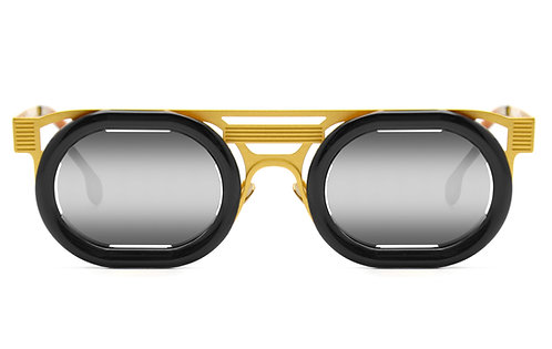 HUBLOT GOLD BLACK SUNGLASSES