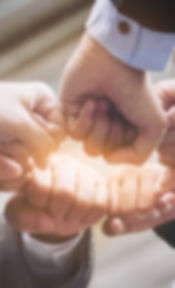 Business People Joining Hands Showing Te