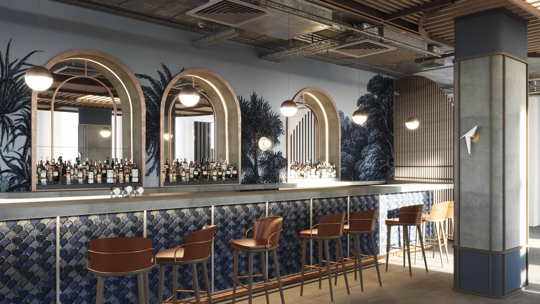 Bohemian restaurant bar