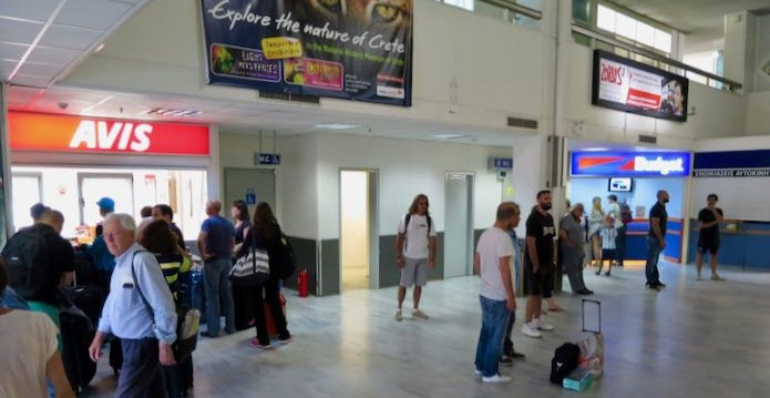 The large car rental agencies have offices within the terminals at both Heraklion and Chania international airports.