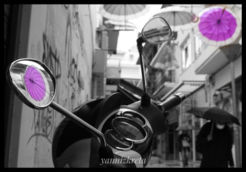 The scooters & motorbikes of the city of Heraklion, Crete, Greece