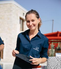 Alexandra of Double A Wedding Crete, Greece.