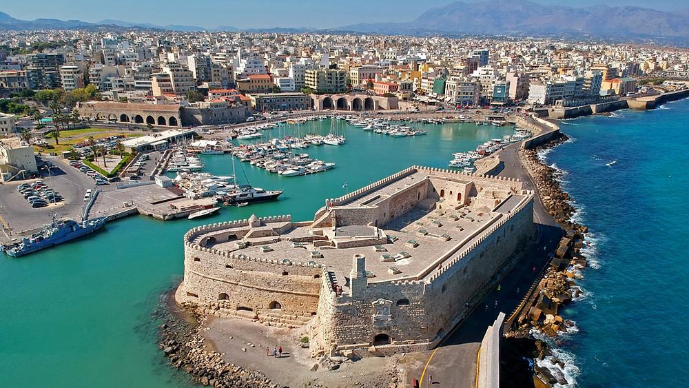 The Koules of Heraklion, Crete, Greece in the Venetian harbour.