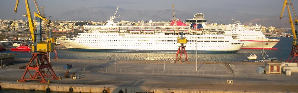 The ferry & cruise ship port of Heraklion, Crete, Greece