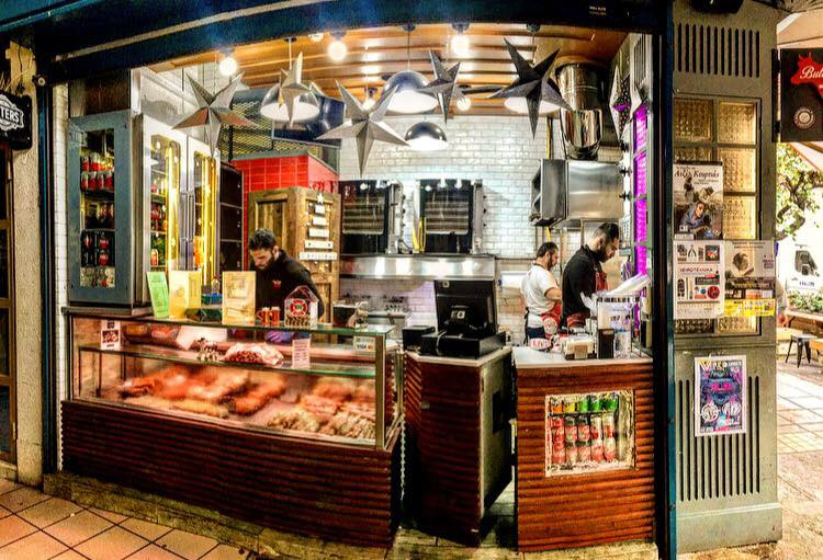 Chop Chop provides genuine Greek grill / street food at it's very best right at the heart of the city of Heraklion on the island of Crete. Don't miss there superb bifteki, souvlaki and more.