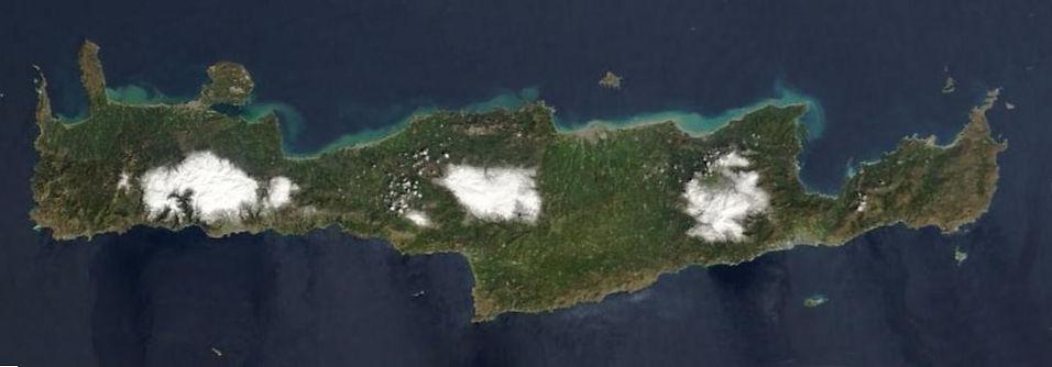 Crete Greece Satellite Image