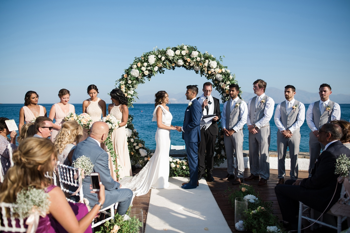 Seaside Wedding Ceremony Crete, Greece.