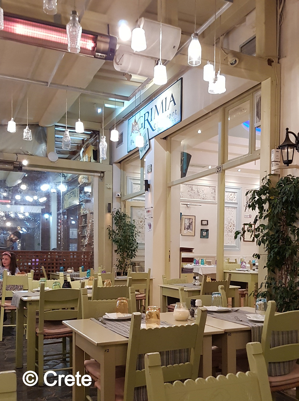 Agrimia is a Taverna right in the centre of Rethymno, Crete, Greece. It offer tasty local and Greek cuisine in a family atmosphere.
